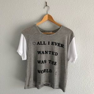 WILDFOX All I Ever Wanted Was the World Top NWT